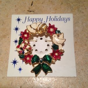 🌟FREE🌟Happy Holiday Brooch