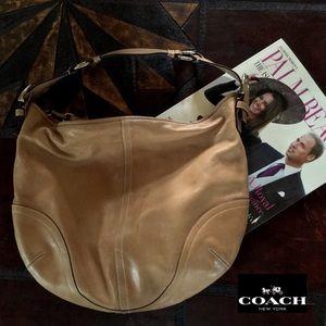 COACH tan leather hobo large bag.