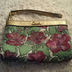 Coach Poppy Pattern Wristlet