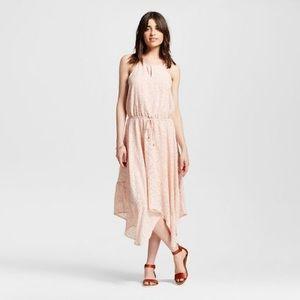 Mossimo blush pink handkerchief hem midi dress!!
