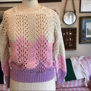 Vintage Pastel Crocheted Sweater