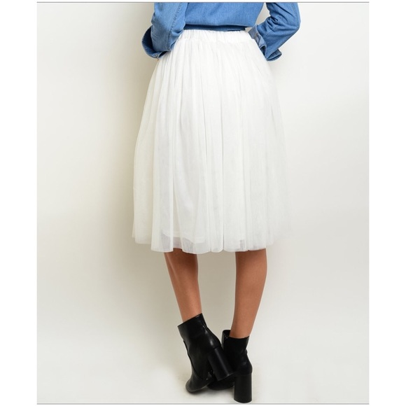 60 s boutique dresses skirts white tulle