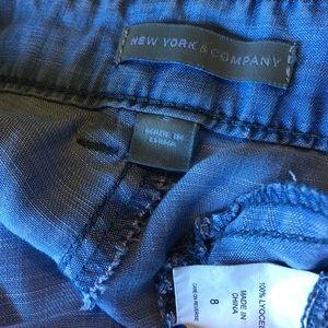 New York & Company Pants - Chambray Joggers Cargo Pants 8 Blue