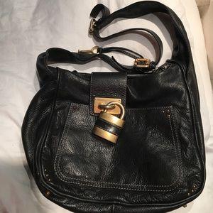 Chloe long strap leather bag