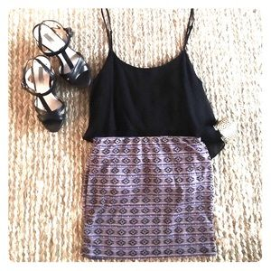 Mine Dresses & Skirts - SALE* Aztec Print High-Waisted Mini Skirt
