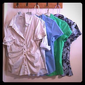 New York & Company Tops - New York & Co + Apt 9 dress shirt lot large