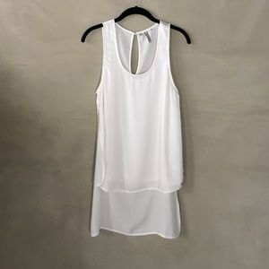 Guess white long-back sleeveless blouse