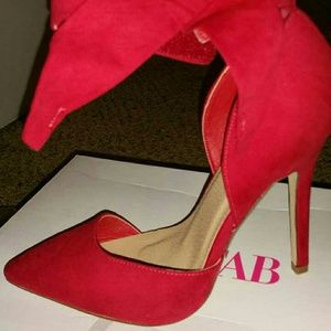 Justfab red pumps size 6.5
