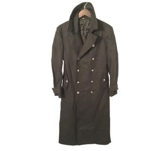 JOHN BARTLETT men's size 48 military TOP COAT $5k