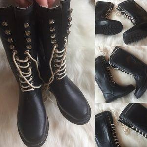 Ilse Jacobsen Shoes - ILSE JACOBSEN 🎀 HORNBAEK RUBBER LACE BOOTS 6 - 7