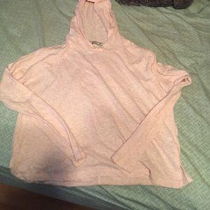 Chloe K Tops - Hooded crop shirt