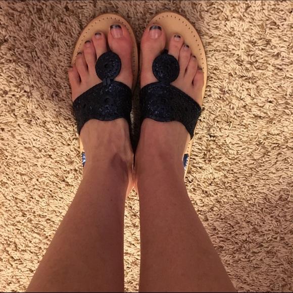 Jack Rogers Shoes Navy Glitter Sandals Poshmark