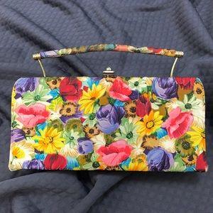 Vintage 1950s Floral Clutch Purse