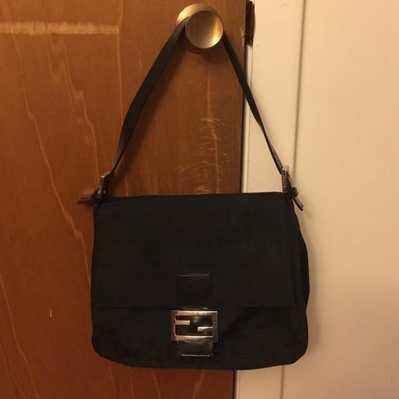 Fendi Bags   Black Zucca Handbag   Poshmark a58de828d3