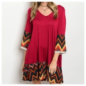 Dresses & Skirts - New- Wine Tesl Rust Dress