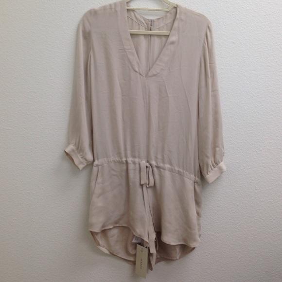 d1f082bca87 Mason Nude Silk Long Sleeve Romper