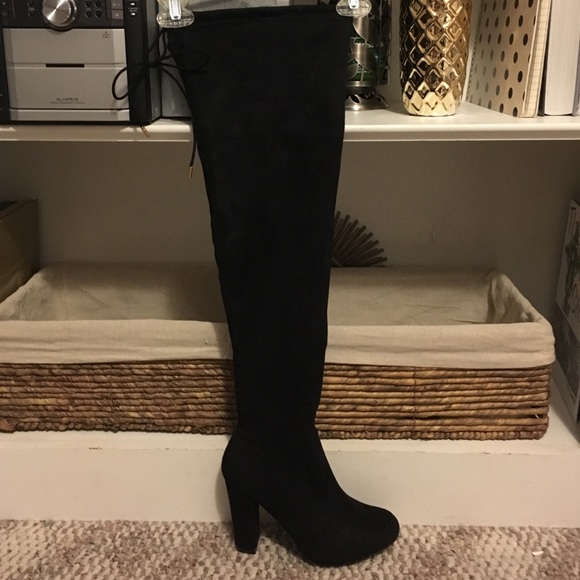 532a9cc03b0 Journee Collection Shoes - Wide calf black over the knee boots