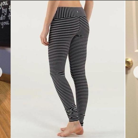693ff40a53 lululemon athletica Pants - Rare Lululemon Parallel Stripe Wunder Under Pant