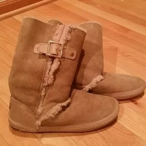 Tory Burch Shearling Moccasin Winter Boots
