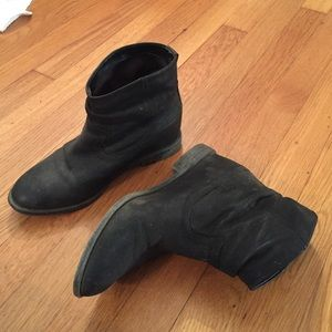 Leather black booties from Aldo