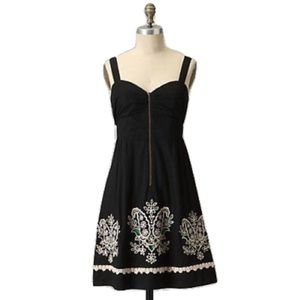 Floreat Anthro Floral Eyelet Embroidered Dress