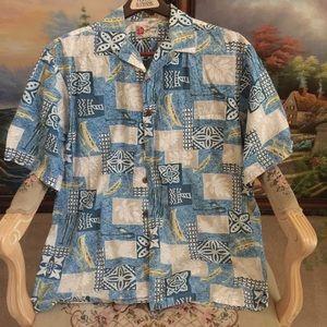 Hilo Hattie Hawaiian polo for men.