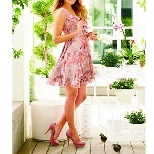 NWT LC Lauren Conrad Malibu Doll Floral Dress