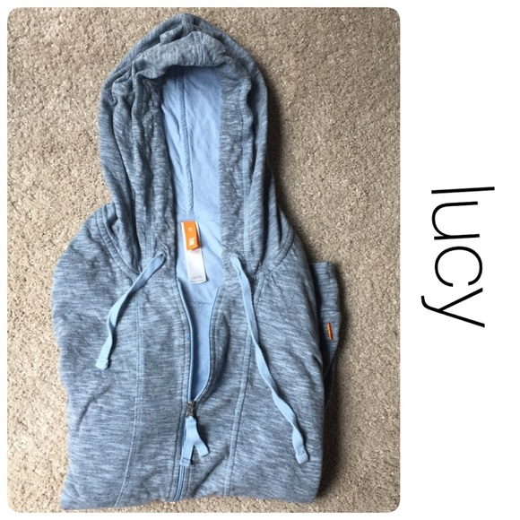 Lucy Tops - lucy blue hoodie with thumb holes size xs