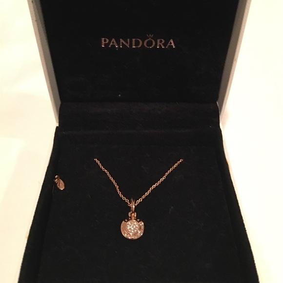40 off pandora jewelry pandora signature rose gold necklace pandora signature rose gold necklace aloadofball Images