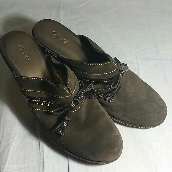 c3d9568247a8 Ecco Shoes - Women s ECCO Clogs Shoes Brown 40 M Leather Heels
