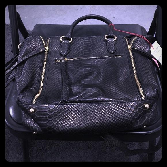 f95eea2e4f48 Oreet Snake-Embossed Leather Tote Bag Black. Boutique. Charles Jourdan
