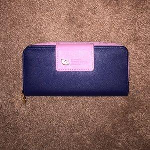 Handbags - Pink and Blue zip wallet