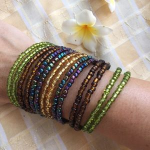 handmade Jewelry - Festival summer 2017 layered boho cuff