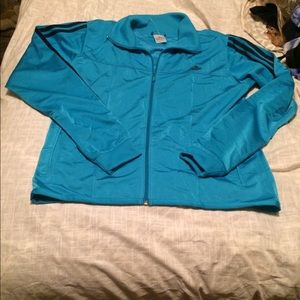 Blue adidas jacket xl