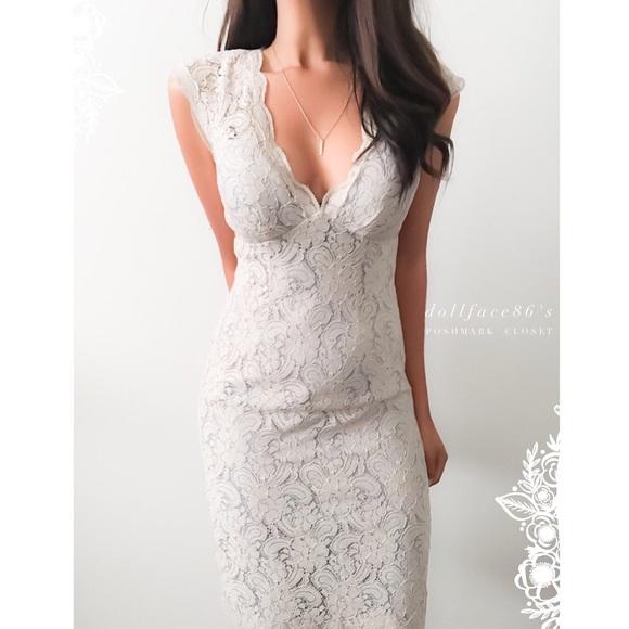 Watters Watters Dresses Beautiful Taupe Lace Bridal Dress Poshmark