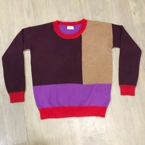 Madewell colorblock sweater size S