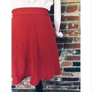 Vintage Dresses & Skirts - Vtg 80s High Waisted Skater Orange Skirt Size 2 SM