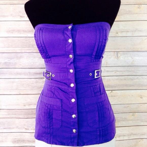 e133e0153b bebe Tops - BEBE purple bustier top