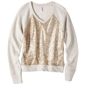 Gold Sequin Sweatshirt