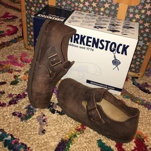 5e4bf229a78 Birkenstock Shoes - BIRKENSTOCK LONDON HABANA OILED LEATHER CLOG 39