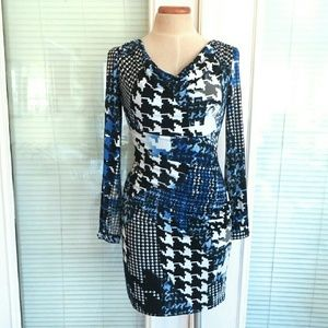 Muse Dresses & Skirts - NWT Muse Houndstooth Print Jersey Dress