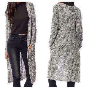 Southern Girl Fashion Sweaters - MAXI CARDIGAN Loose Knit Long Drape Sweater Jacket