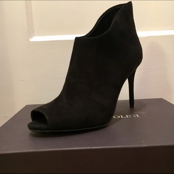 NWT Enzo Angiolini Loves It Black Suede Bootie aa1afd286
