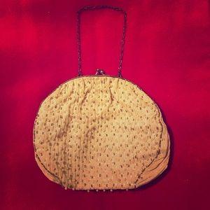 Beautiful cream, beaded, vintage bag. Circa 1920s.