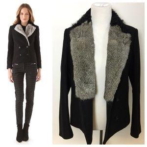Fur Collar Wool Peacoat