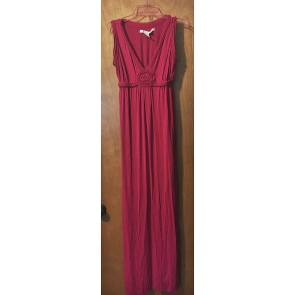 Max Studio Dresses | Raspberry Jersey Knit Maxi Dress | Poshmark