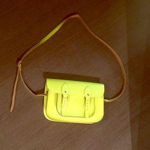 "Cambridge Satchel Handbags - Neon Cambridge satchel company 11"", like new"