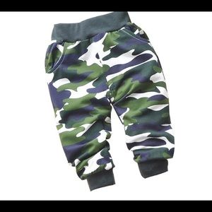 Baby's Camouflage Pants, Green Camo Pants