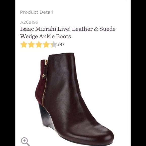 fcd776b4eb9 Isaac Mizrahi Live Coffee Bean Wedge Ankle Booties
