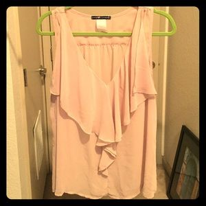 Blush ruffled blouse - Large